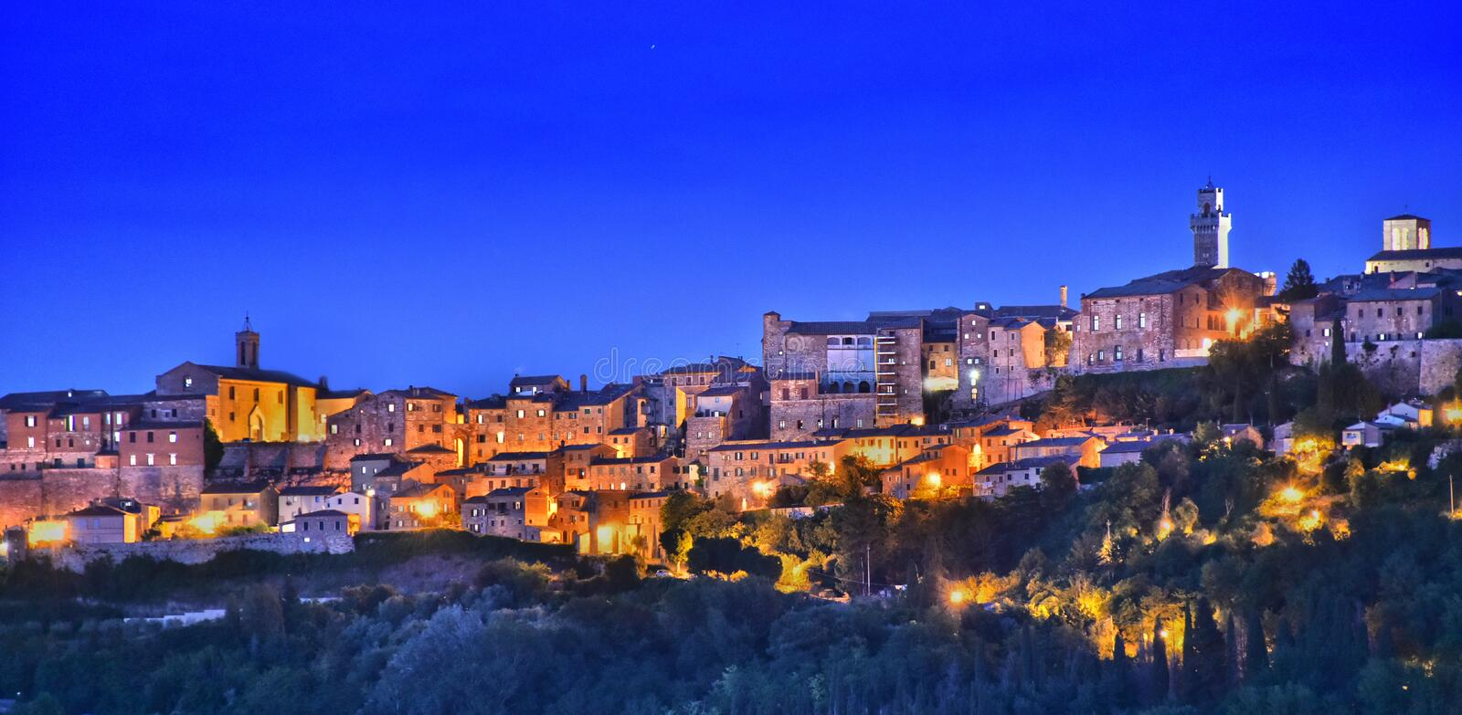 City of Montepulciano in Tuscany, Italy.  royalty free stock images