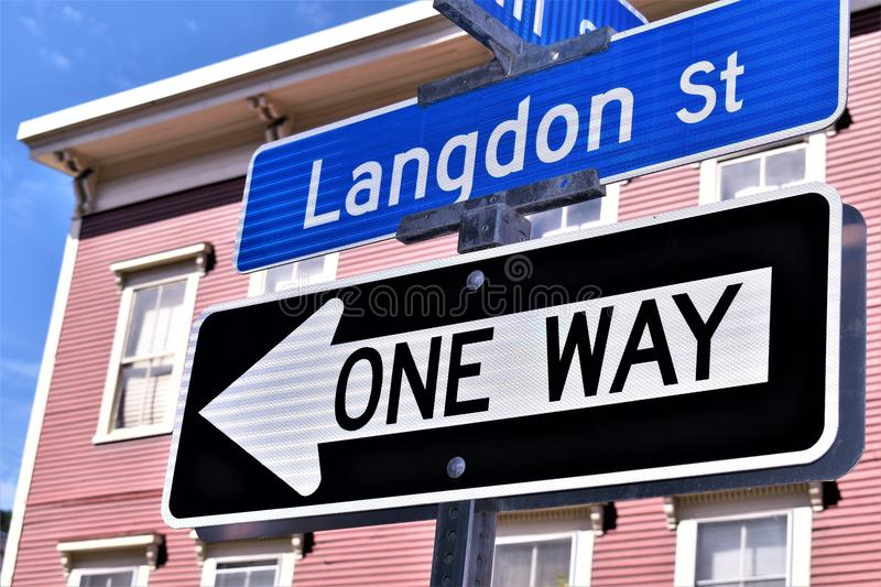 City of Montpelier, Washington County, Vermont, United States, State Capital. Street signage located in Montpelier, Washington County, Vermont, United States US stock photos