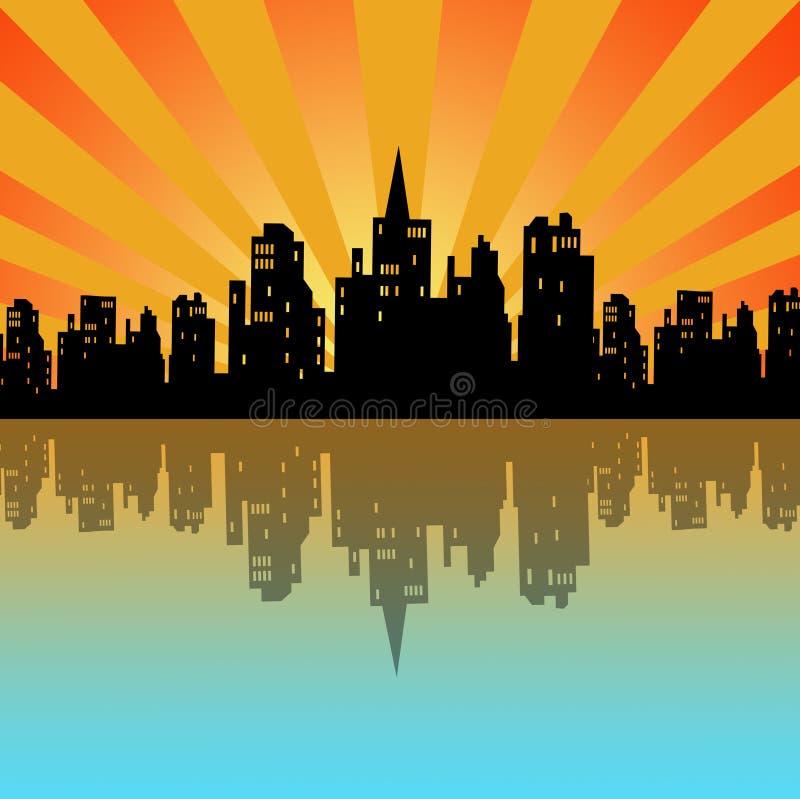 Download City morning stock illustration. Illustration of building - 15608213