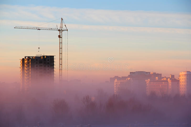 Download City In The Morning Fog Stock Photography - Image: 35386762