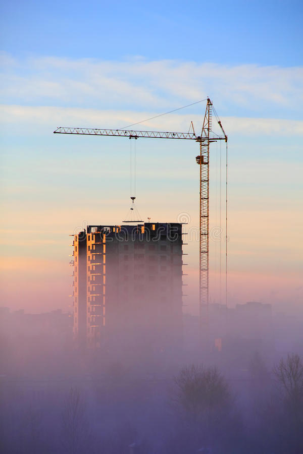 Download City in the Morning Fog stock image. Image of landscape - 35386779
