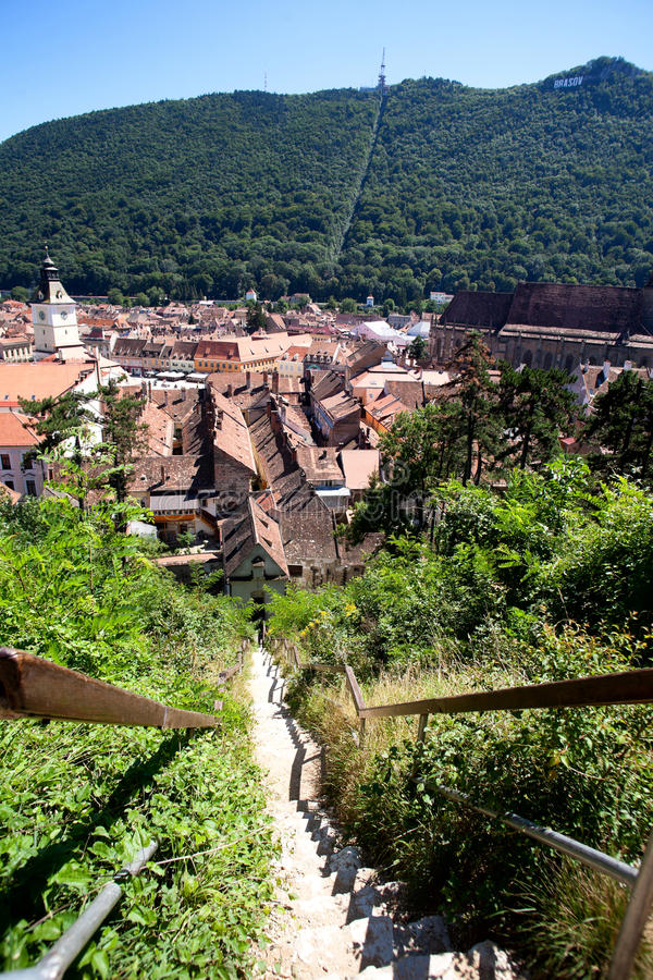 Download City between mountains stock photo. Image of brasov, above - 24041152