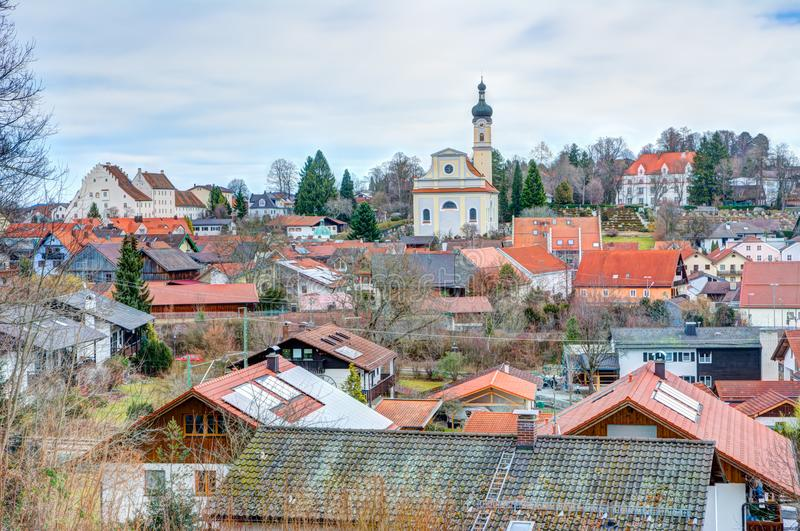 City of Murnau in Bavaria royalty free stock image