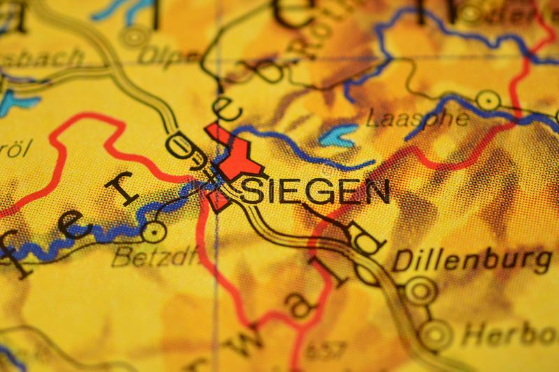 The Word Siegen On The Map Stock Photo Image 106403164