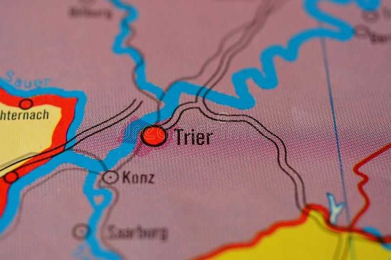 The City Name TRIER On The Map Stock Photo Image of city photos