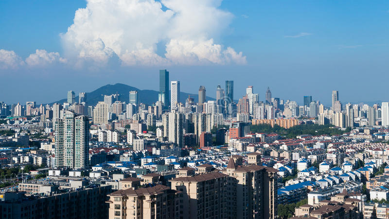 City of Nanjing. Skyline of city of Nanjing, China stock photography