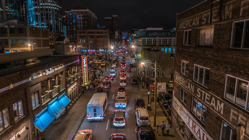 City by Night royalty free stock photography