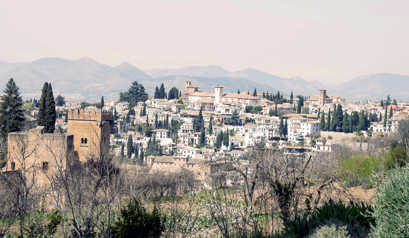 Download City near Alhambra stock image. Image of castle, church - 25298731