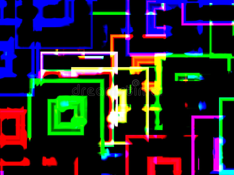 Download City neon reflections stock illustration. Image of colour - 3070670