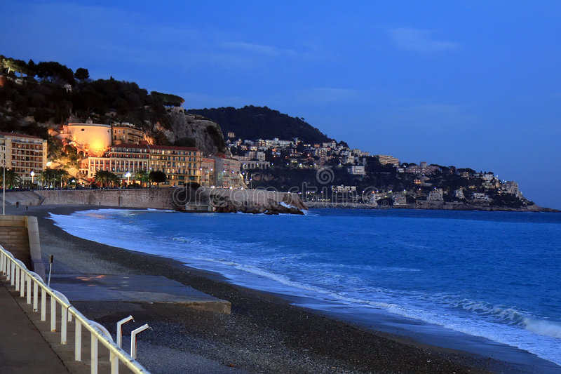 City of Nice at Dusk stock photo