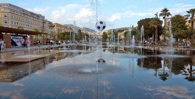 City of Nice - Lovely fountain royalty free stock photography