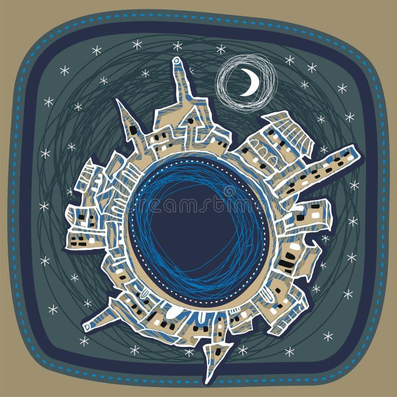 City At Night royalty free illustration
