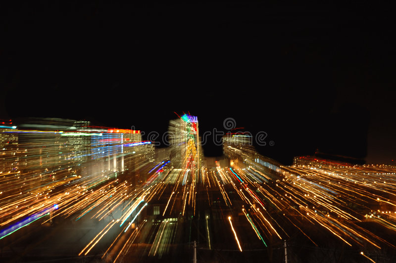 City by night stock photo