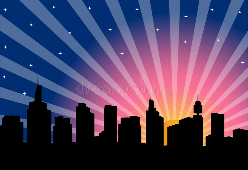 Download City night stock vector. Image of skyline, architecture - 8209945