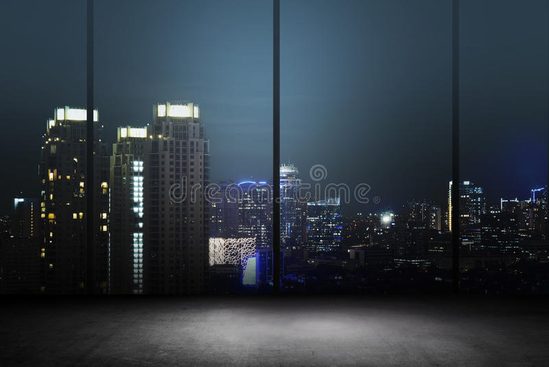 City Night Background Inside Office Building royalty free stock images