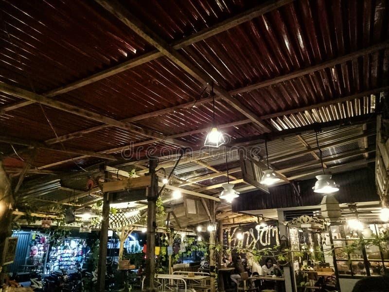 City Night on Caffe to enjoy Coffe stock photography