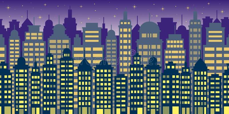 City at night. City lights at the night royalty free illustration