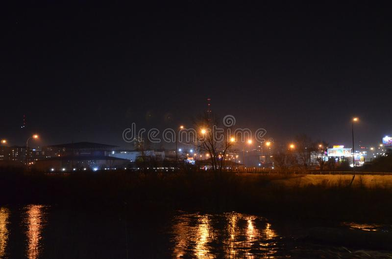 City night lights. In autumn royalty free stock images