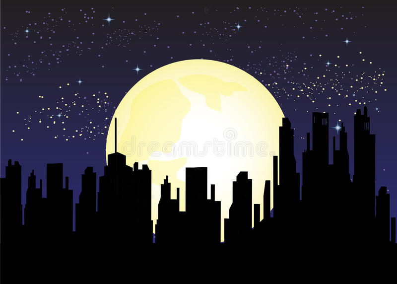 City At Night royalty free stock photo