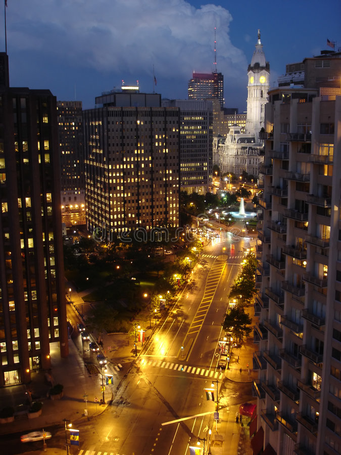 City Night, Philadelphia royalty free stock photo