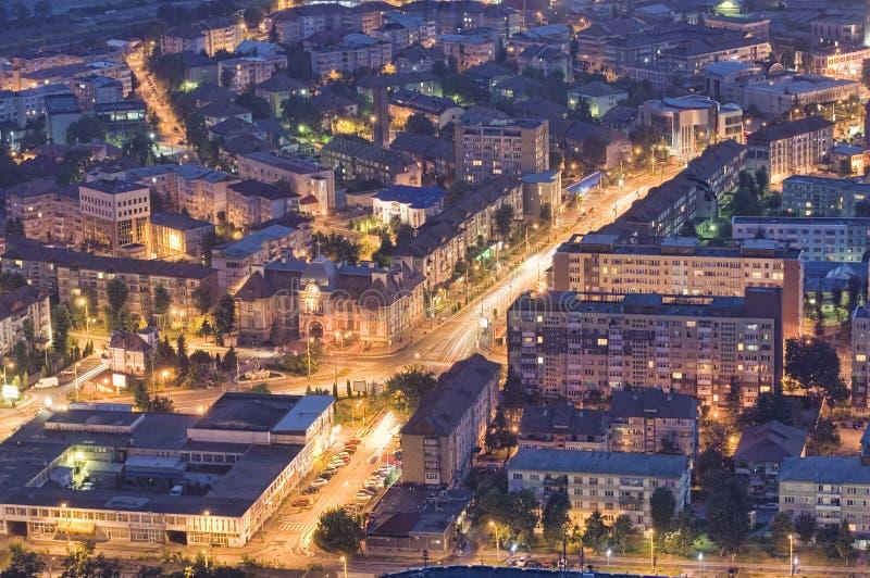 City at night, Romania royalty free stock photography