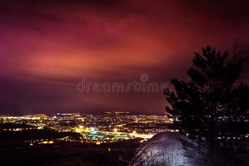 Download City at night stock photo. Image of village, light, lamp - 37159410