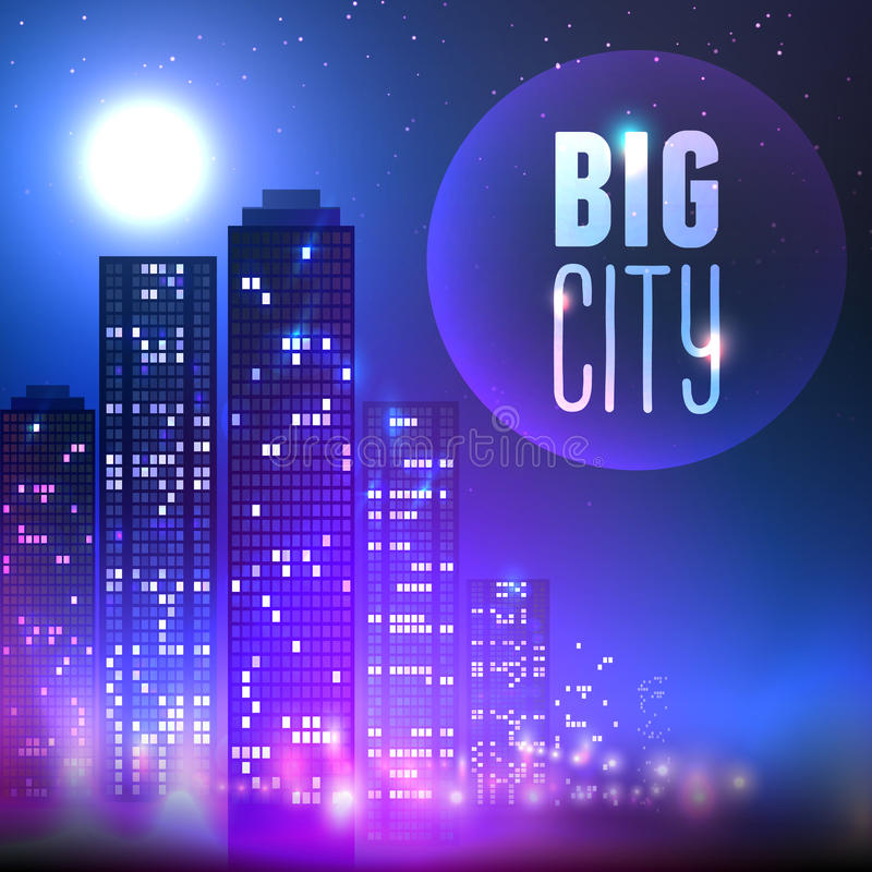 City at night royalty free illustration