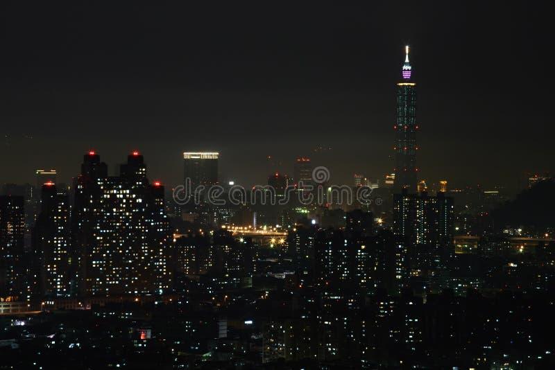 city night taipei view στοκ εικόνα με δικαίωμα ελεύθερης χρήσης