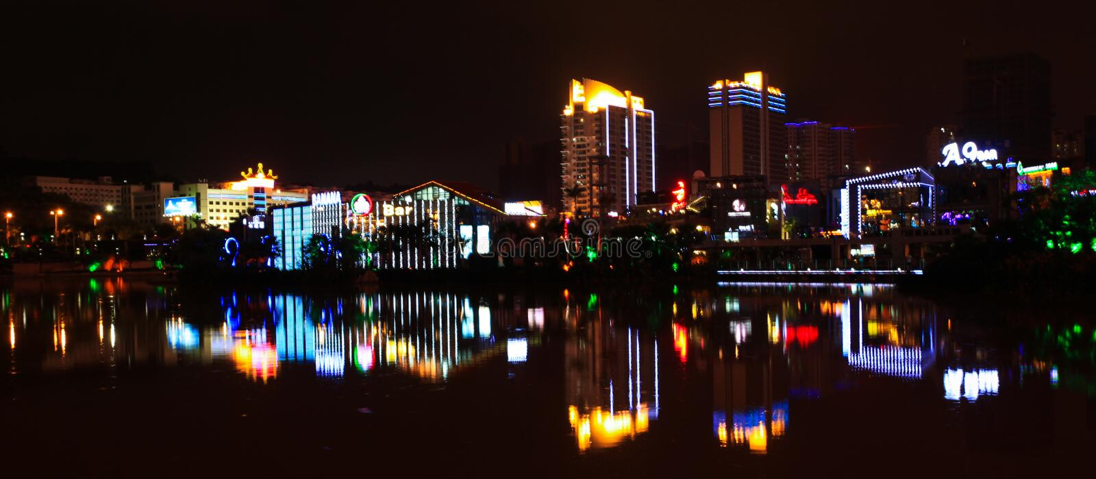 Download City night view editorial photography. Image of empire - 25948332