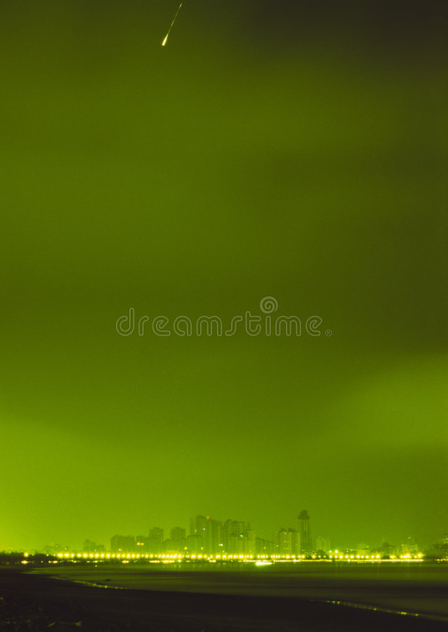Download City Night View & Start Track Stock Photo - Image: 3767648
