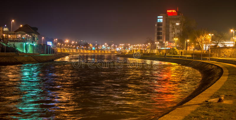 City of Nis riverbank, Nis, Serbia. View at city of Nis riverbank, Nis, Serbia royalty free stock photos