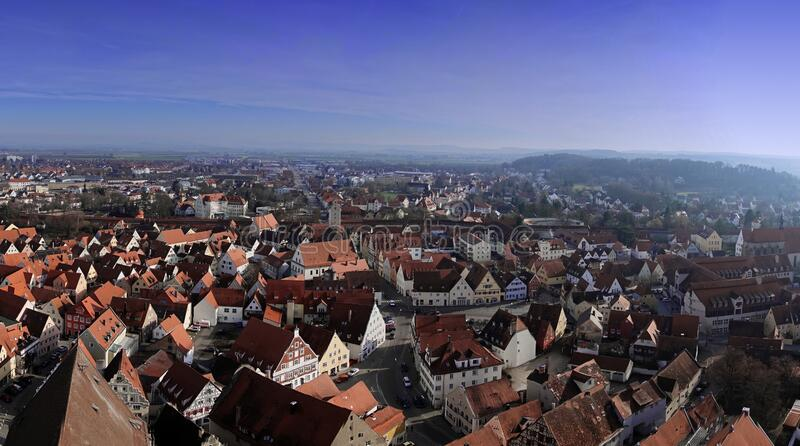 City of Nordlingen stock photo