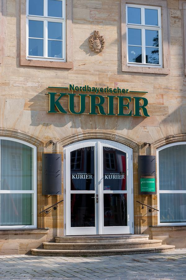 City office of the Nordbayerische Kurier in Bayreuth. royalty free stock image