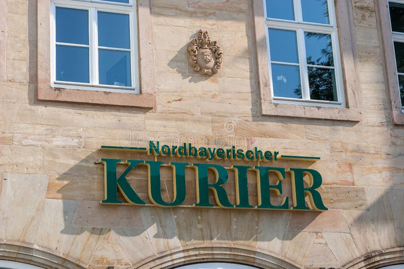 City office of the Nordbayerische Kurier in Bayreuth. royalty free stock photos