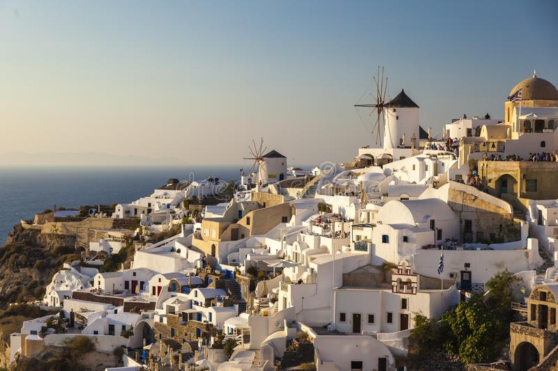 City oia on the Island of Santorini royalty free stock images