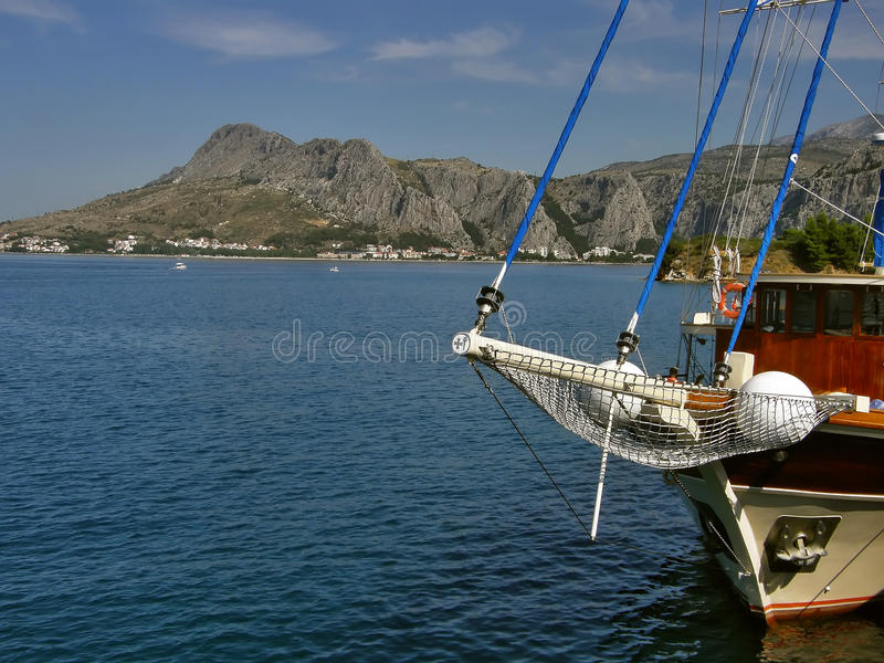 City of Omis (view from the sea) stock photo