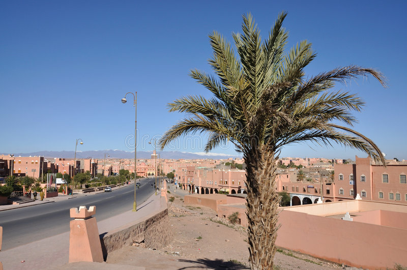 City of Ouarzazate, Morocco. Africa royalty free stock photo