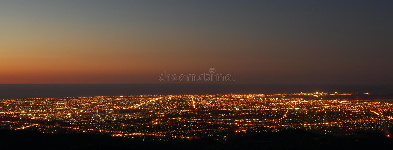 City Over Sunset Στοκ Φωτογραφία