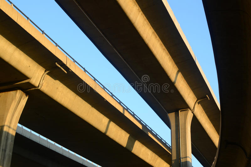 city overpass stock photo