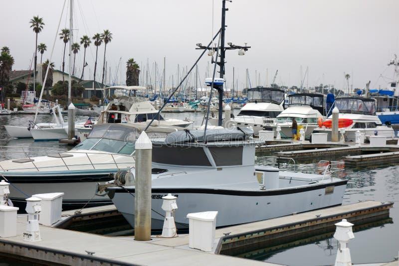 City of Oxnard Marina. OXNARD, CA, USA - JULY 4, 2013: Recreational and fishing boats at the dock in Oxnard marina, Ventura county, Southern California Pacific stock photos