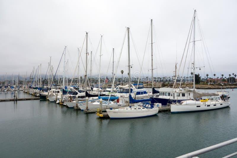 City of Oxnard Marina. VENTURA, CA, USA - JULY 4, 2013: Recreational and fishing boats at the dock in Oxnard marina, Ventura county, Southern California Pacific royalty free stock images