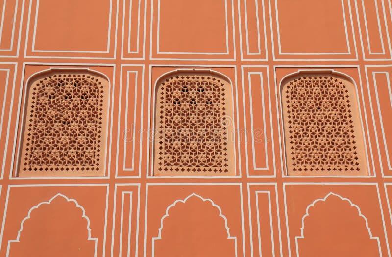 City Palace historical building Jaipur India. City Palace historical building wall Jaipur India royalty free stock photos