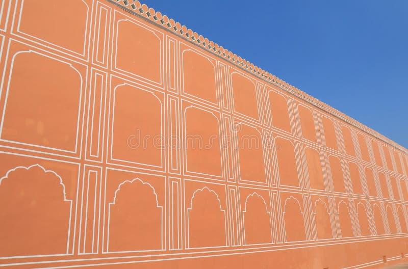 City Palace historical building Jaipur India. City Palace historical building wall Jaipur India royalty free stock photography