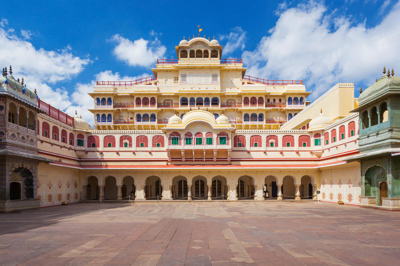 City Palace in Jaipur stock images