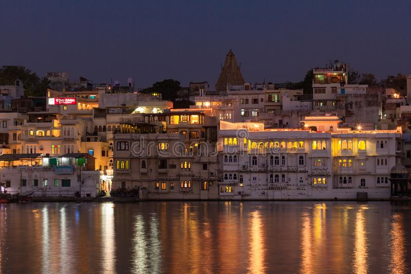 City Palace in Udaipur India stock images