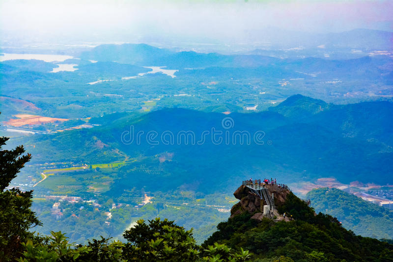 City panorama Lookout royalty free stock photography