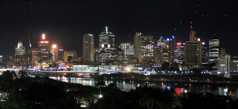 city panorama river stars στοκ εικόνα