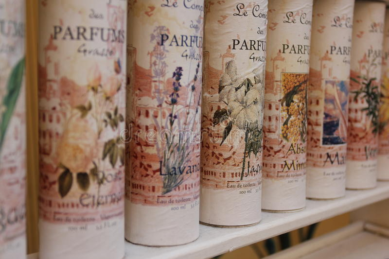 The city of parfum - Grasse, France stock images