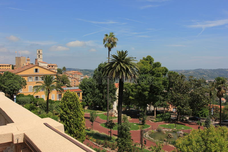 The city of parfum - Grasse, France stock photography