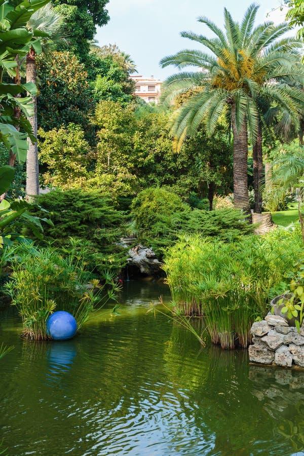 City Park in Monaco. City Park Casino in Monaco royalty free stock photo
